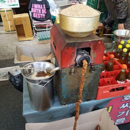 韓国の移動市場で コプチャン