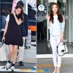 韓国旅行 【ユナ – BoA】風薫る5月の空港ファッションは小物に注目〜♪