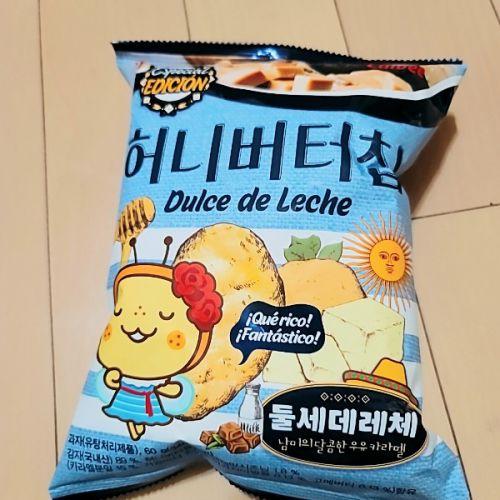 果たして何味?な韓国ポテトチップス。