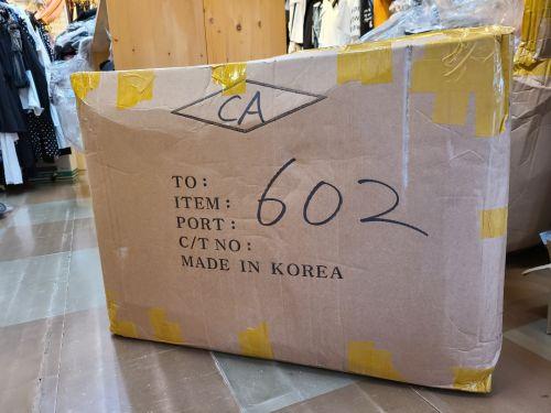 韓国よりカーゴ便到着